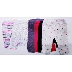 Set of 7 Pairs of Baby Girl Pants 0-3 Months